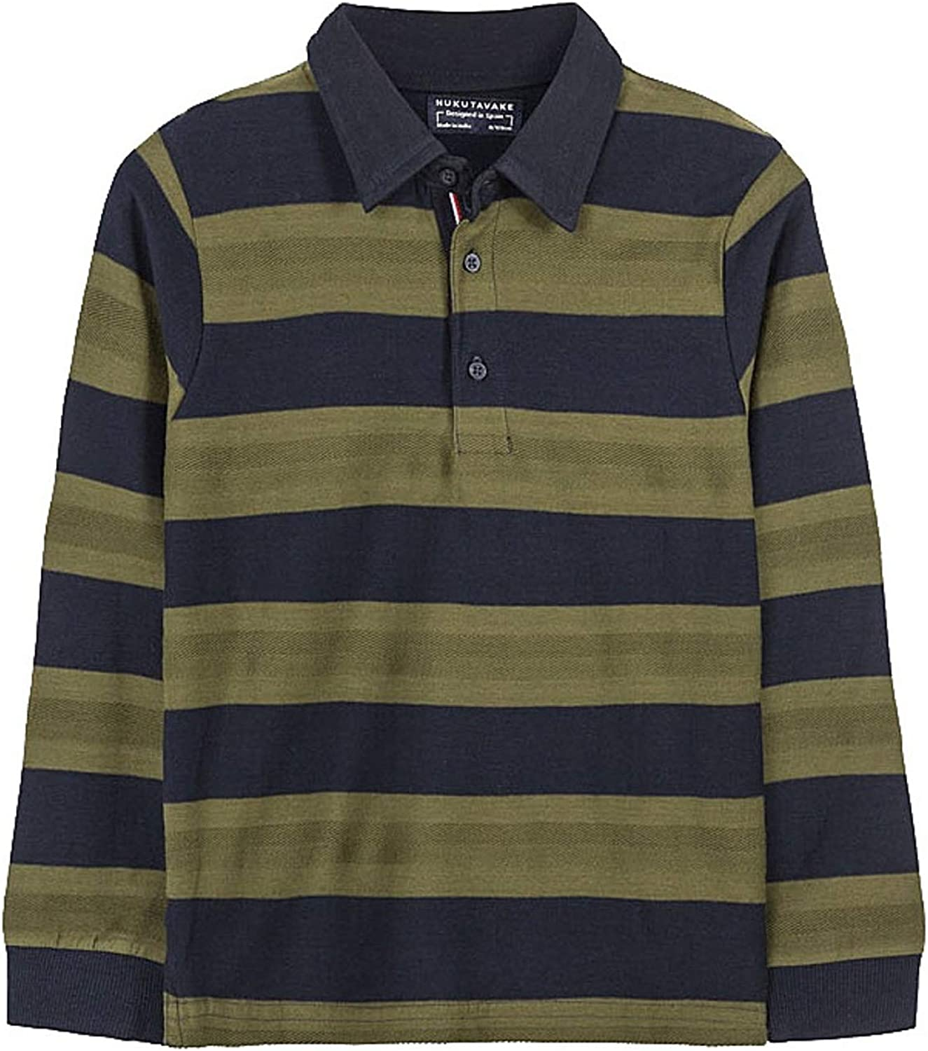 Mayoral - Striped Polo L/s for Boys - 7125, Green
