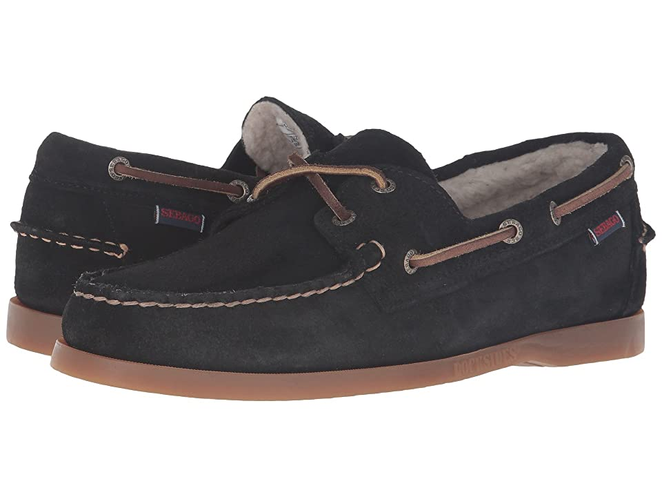 Sebago Dockside Shearling (Black Suede) Men