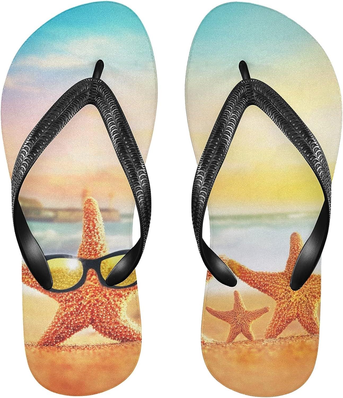 Linomo Max 56% OFF Branded goods Men's Summer Beach Starfish S Flop Slim Flip