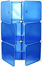 6 Cube Variety Combination Cabinet With Door Blue
