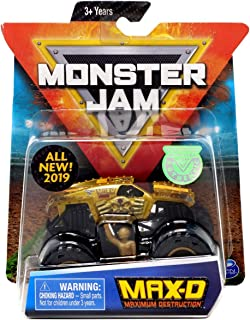 MJ 2019 Spin Master Monster Jam MAX-D Gold w/ Figure & Poster