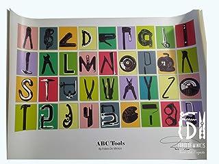 "Alfabeto ""ABC Tools Font"" obra de Fabio De Minicis Póster tamaño 70 x 100 cm sin enmarcar"