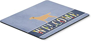 Caroline's Treasures BB5501MP Yellow Labrador Retriever Welcome Mouse Pad, Hot Pad or Trivet, Large, Multicolor