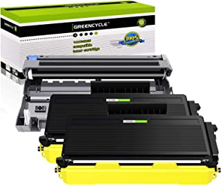 GREENCYCLE 3 Pack Toner Cartridge and Drum Unit Combo Set 2 PK TN580 + 1 PK DR520 Compatible for Brother DCP-8085DN DCP-8065DN DCP-8060 HL-5240 HL-5340D HL-5370DW MFC-8890DW MFC-8460N Printer