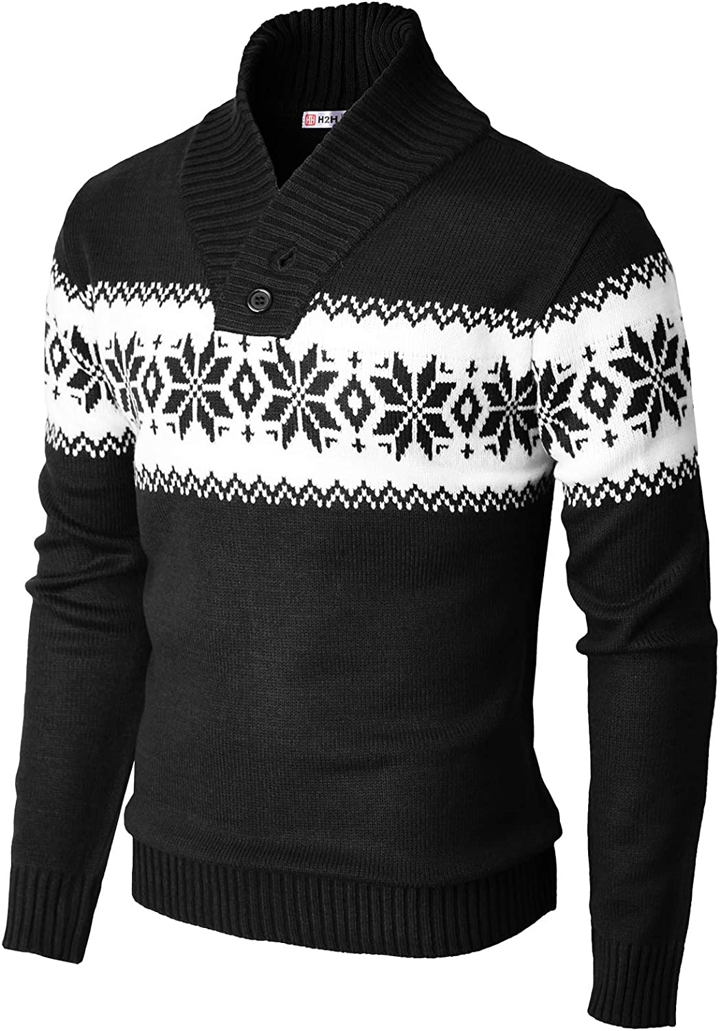 H2H Mens Casual Slim Fit Knitted Thermal of Various Pullover Sweaters