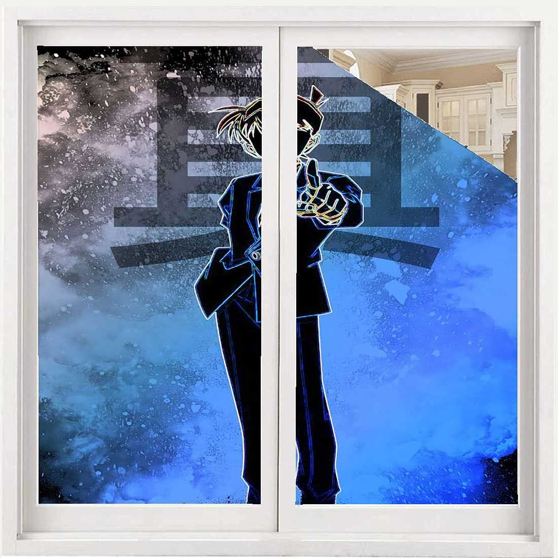 Complete Free Shipping Soul of The Detective Static Cling 3D Film Window Ranking TOP8 Decorative De