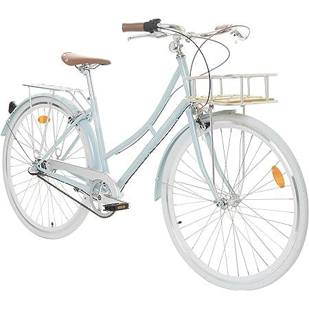 Fabric City Bicicleta de Paseo- Bicicleta de Mujer con Cesta, Cambio Interno Shimano 3V, 5 Colores, 14kg