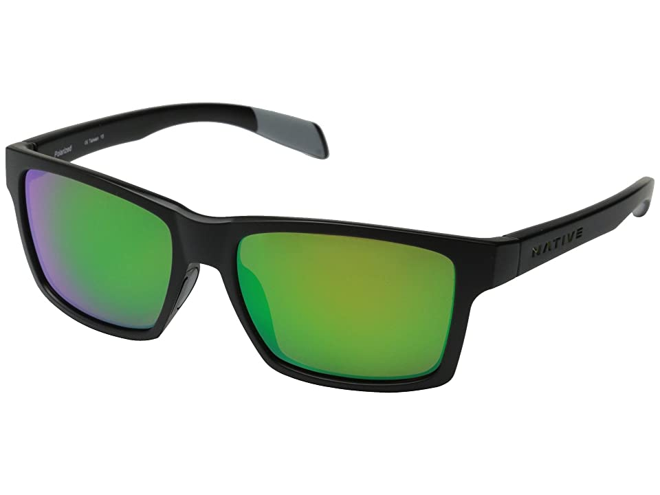 Native Eyewear Flatirons (Asphalt/Green Reflex) Sport Sunglasses