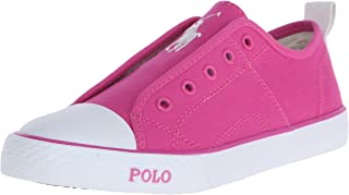 Polo Ralph Lauren Kids Raymond Slip On Fuchsia Canvas Fashion Sneaker (Toddler/Little Kid/Big Kid)