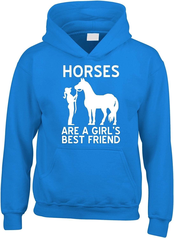 """Edward Sinclair Felpa con cappuccio con stampata la scritta in inglese /""""Horses are a Girls Best Friend/"""" di colore bianco"""
