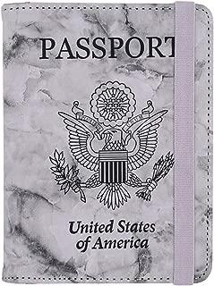 Kandouren RFID Blocking Passport Holder Cover Case,Black Marble passport wallet for Men & Boy,best gifts for travelers,credit card and ID holder wallets,travel accessories