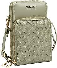 Cynure Women's PU Leather Crossbody Shoulder Bag Small Zip Phone Handbags Purse