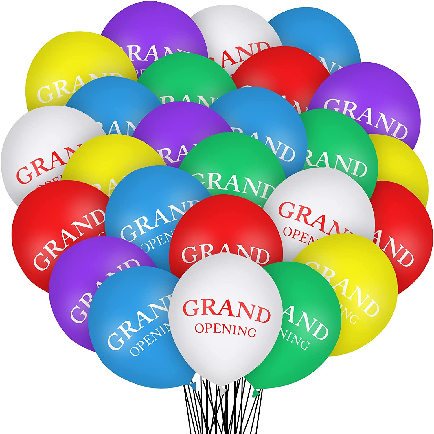 30 Pcs Grand Opening Balloons Colorful Celebrate Business Balloons 12 Inches Latex Balloons for Opening Ceremony Decoration