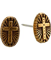 Cross IV Stud Earrings