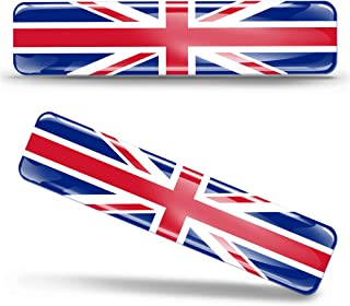 2 x 3D Domed Silicone Stickers Decals UK United Kingdom Union Jack National Great Britain Flag Car Motorcycle Helmet F 26