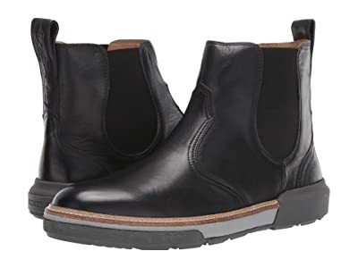 Lucchese After-Ride Chelsea Boot (Black Florence Buffalo Calf) Men
