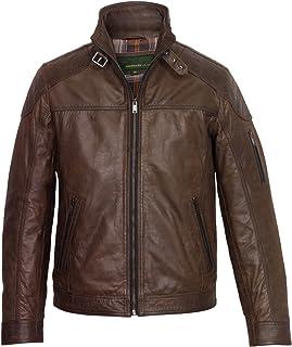 HIDEPARK Mac: Men's Brown Leather Jacket