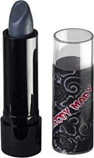 Lipstick By Bloody Mary - Professional Hollywood Makeup Quality -Creamy & Long Lasting – Fashionable Eccentric Gothic Style - Ideal For Halloween - Unique Color & Rich Pigment (Charcoal Grey)