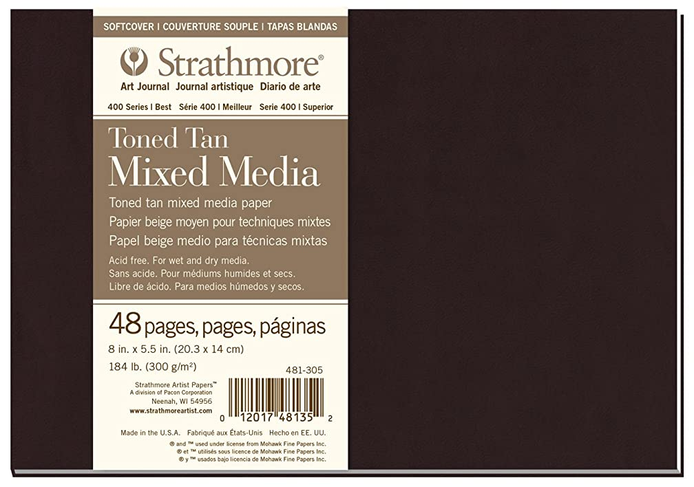 Strathmore ((481-305 400 Series Softcover Toned Tan Mixed Media Art Journal, 8