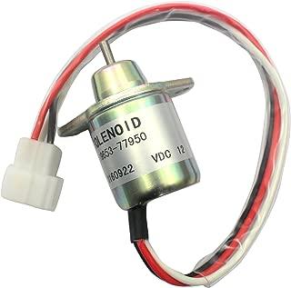 1503ES-12S5SUC5S SA-4562-T SA-4920 119653-77950 12V Fuel Stop Solenoid - SINOCMP CP-U0322 Shut Off Solenoid For Yanmar, 3 Month Warranty