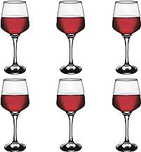 Argon Tableware 'Tallo' Contemporary Red Wine Glasses - Gift Box of 6 Glasses - 400ml (14oz)
