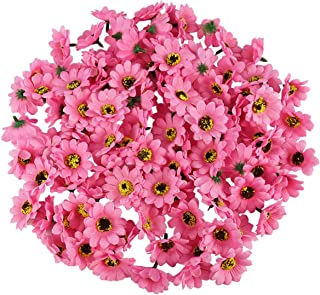 "YONGSNOW 200pcs 1.8"" Mini Daisy Flower Head Artificial Silk Sunflower for Home, Wedding, Bride Bouquet Decor DIY Wreath,He..."