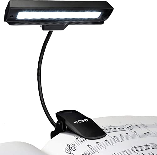new arrival Vont Clip On Book Light, Rechargeable Stand Light, Made from 10 LEDs, Orchestra Lamp with Adjustable Neck, Use as: Reading Light, online sale USB Desk Lamp outlet sale & More sale