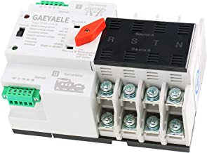 GAEYAELE W2R Mini ATS 4P Automatic Transfer Switch Controller Electrical Type ATS Max 100A 4POLE (W2R-4P 100A)