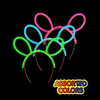 6 Pack - Glow Stick Headband Bulk, Glow Headbands for Adults & Kids- Assorted Colors
