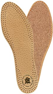 Kaps Insoles Pecari Cork - Comfortable Leather Insoles for Elegant Smart Shoes (46 EUR / 13 US Men)