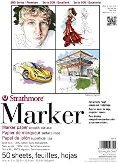"""Strathmore (597-9) 500 Series Marker Pad, 9""""x12"""", 50 Sheets"""