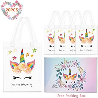 20 Pack Party Favor Gift Bags with Dreamlike Design - Reusable Gift Tote Bags, Goodie Small Gift Toy Treat Favor Bags for Kids Themed Baby Shower Birthday Party
