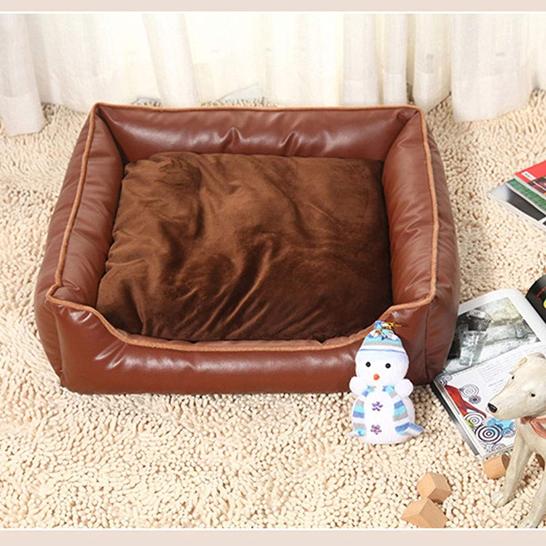 Dog Bed Cat Bed Deluxe Washable Dog Basket Bed Cushion Hound Comfort Bed Kennel Cat Litter Dog Dormitory Dog Bed Pet Bed (color   Brown, Size   L)