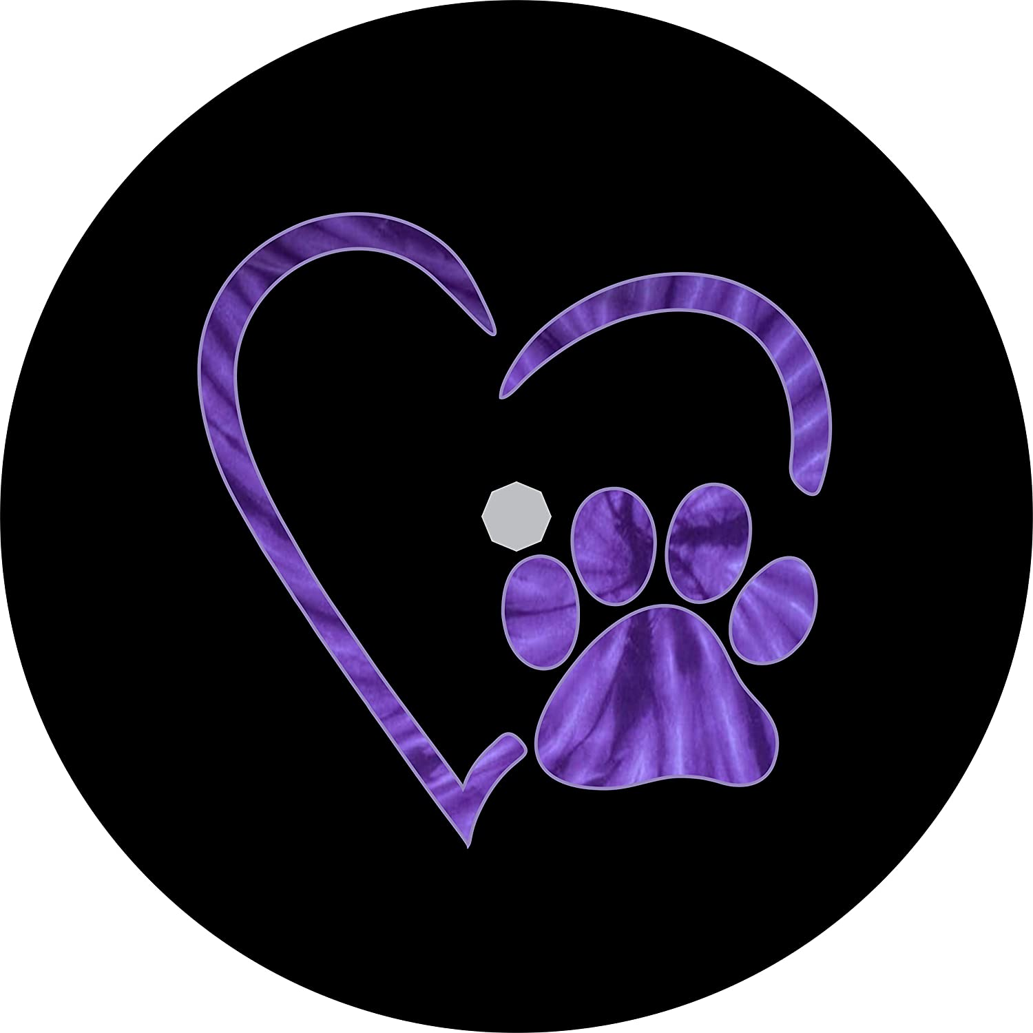 TIRE COVER CENTRAL Paws Choice Love Purple Heart Tire Tie Cov At the price Spare Dye