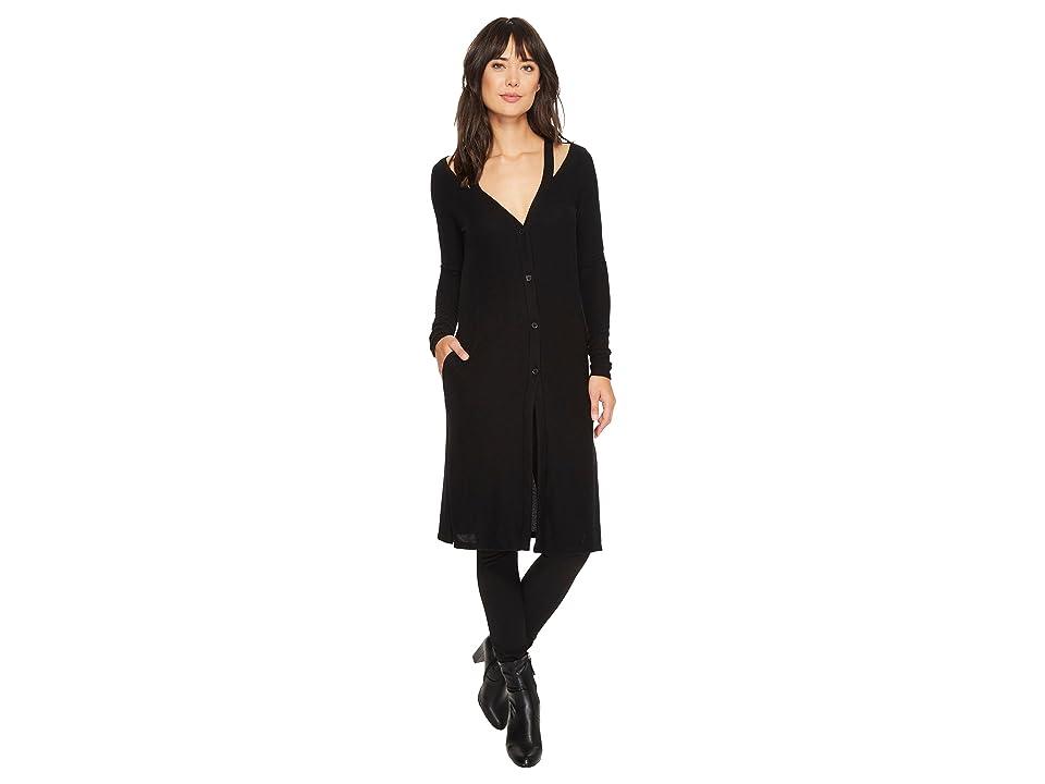LAmade Gwen Super Fuzzy Knit Cardi (Black) Women