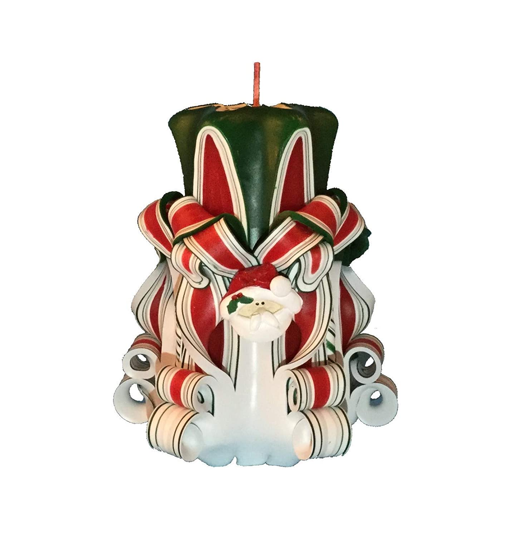 Handmade Christmas Pillar Candle 贈答 最安値挑戦 Accents Santa with