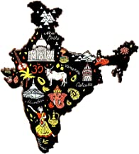 SkyWalker India Souvenir Wooden Fridge Magnet - Map of India,Perfect Souvenir for Gifting