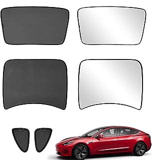 Xipoo Fit Tesla Model 3 Sun Shades Glass Roof Sunshade Sunroof Rear Window Sunshade Foldable for Tesla Model 3 Accessories...