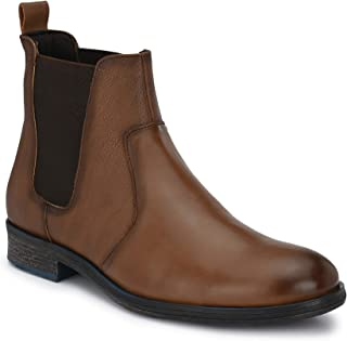 Delize Black/Brown Chelsea Ankle Boots for Men's