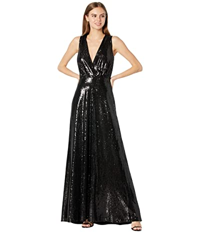 Halston Harlan Folded Drape Gown