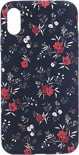 جراب خلفي مطاط سليم تصميم زهور لايفون X - متعدد الالوان
