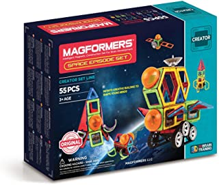 Magformers 3014 Space Episode Set (55 Piece) Magnetic Building Blocks, Educational Magnetic Tiles Kit , Magnetic Construct...