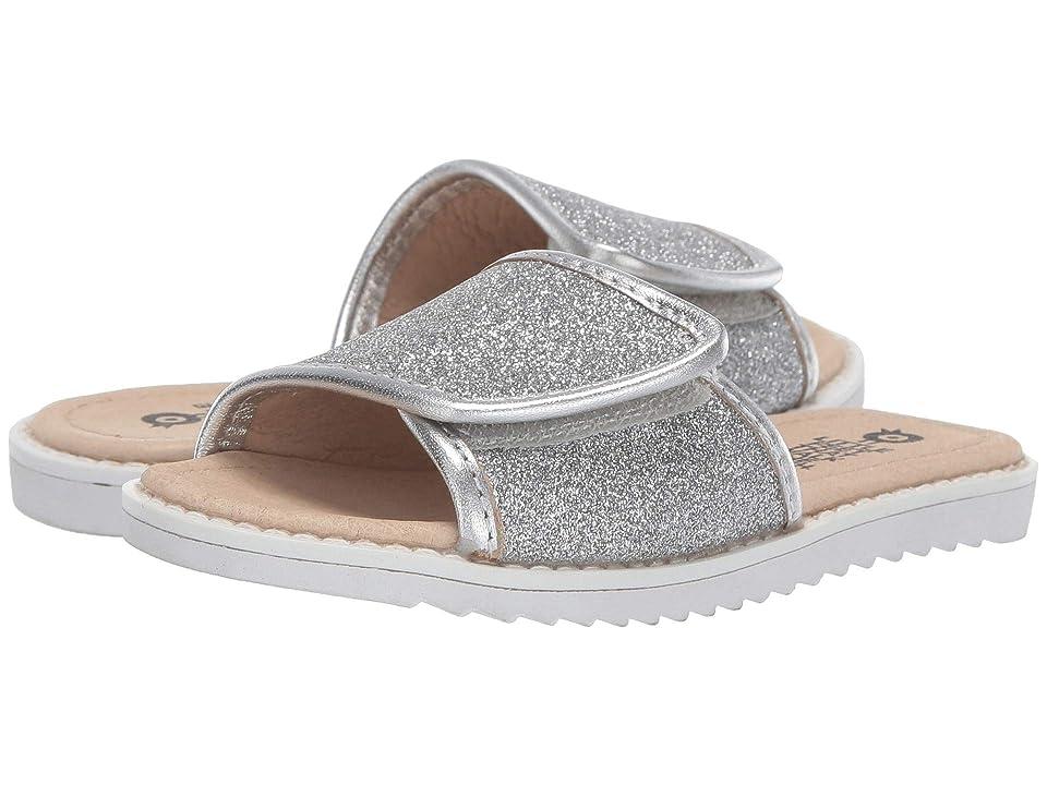 Old Soles Glam Slides (Toddler/Little Kid) (Glam Argent/Silver) Girl