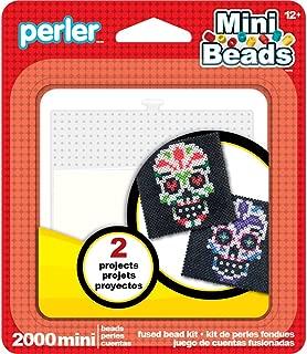 Perler Mini Beads Sugar Skull Halloween Craft Activity Kit, 2002 pcs