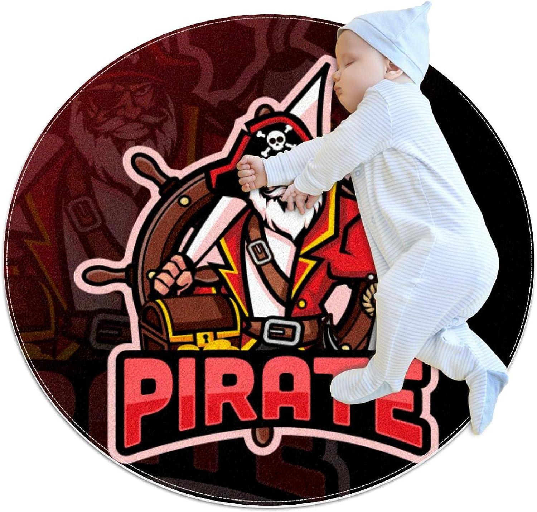 Pirate Mascot free Kids Nursery Cheap sale Rug Play Design Carpet Round Tod Mat