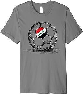 Iraq Iraqi Flag Design On Soccer Ball Artsy Football Premium T-Shirt