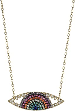 SHASHI - Rainbow Eye Pendant Necklace