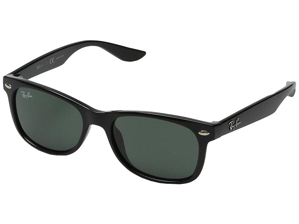 Ray-Ban Junior RJ9052S New Wayfarer 47mm (Youth) (Black) Fashion Sunglasses