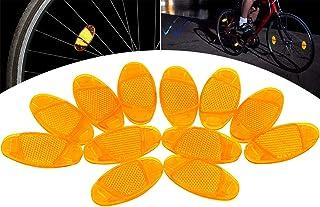 Bnineteenteam 2 Pezzi Spia Manubrio Bici,Indicatori Luminosi di Sicurezza Segnalatori di Sicurezza Luminosi Indicatori di direzione Luci per manubri Lampada Segnale Luce
