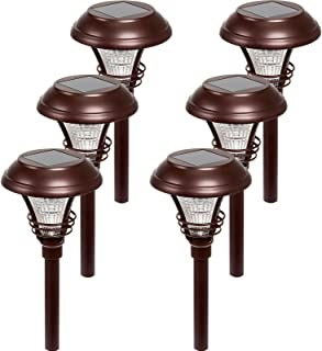 Westinghouse Kenbury 10 Lumens LED Garden Solar Path Lights (Bronze, 6 Pack)